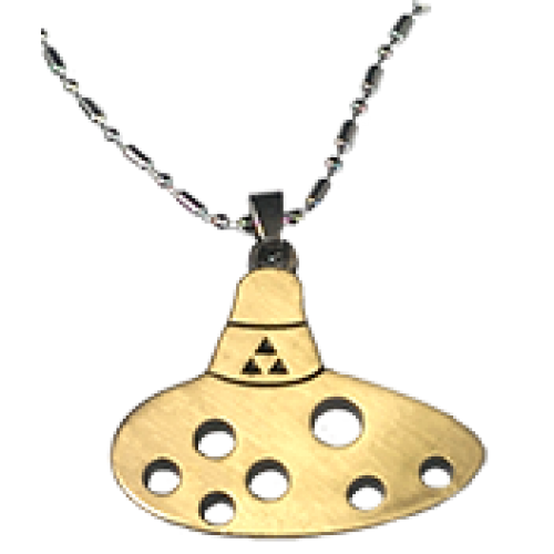 Ocarina of Time Necklace - Gold Edition