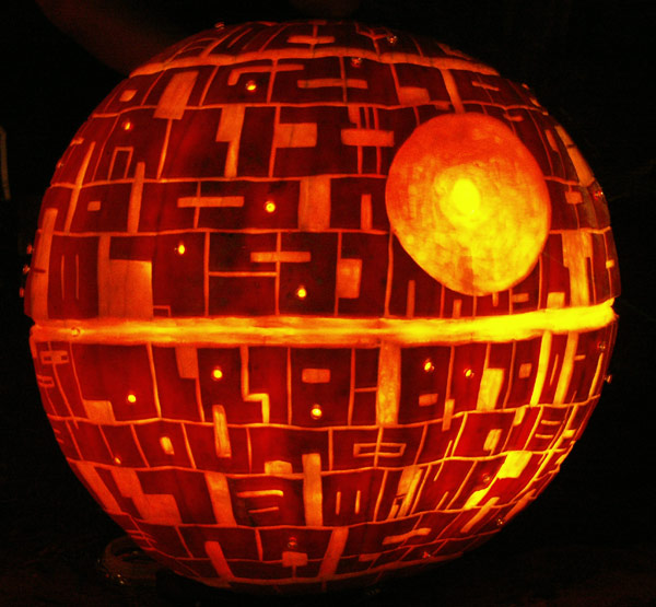deathstar pumpkin carving